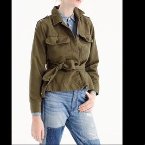 J.Crew belted field jacket. Medium